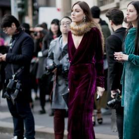 Two girls in velvet dresses
