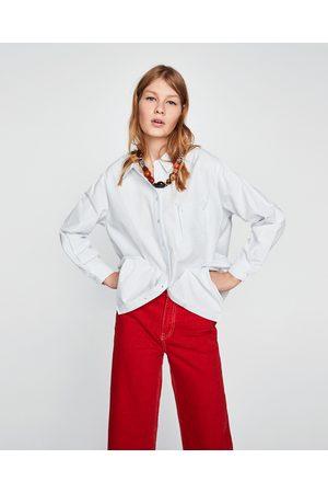 Zara OVERSIZED STRIPED SHIRT