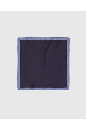 Zara Men Pocket Squares - PLAIN POCKET SQUARE WITH BORDER