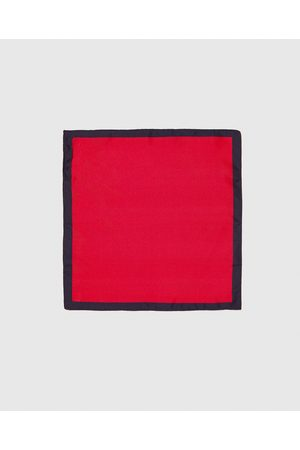 Zara PLAIN POCKET SQUARE WITH BORDER