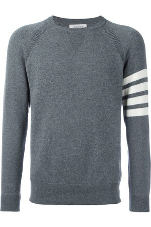 Thom Browne Men Jumpers - 4-Bar French Terry Cashmere Sweatshirt