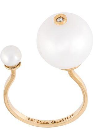 DELFINA DELETTREZ Pearl piercing' diamond ring