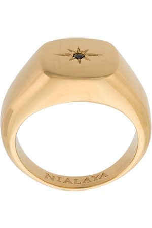 Nialaya Skyfall Starburst Signature ring in Gold