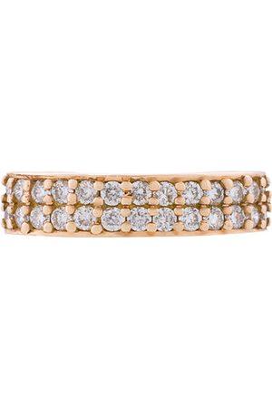 Anita 18kt rose gold double row diamond ear cuff