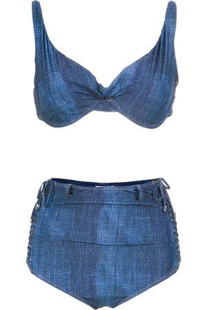 AMIR SLAMA High waist denim bikini set