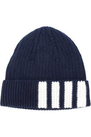 Thom Browne Men Hats - 4-Bar Stripe Cashmere Rib Hat