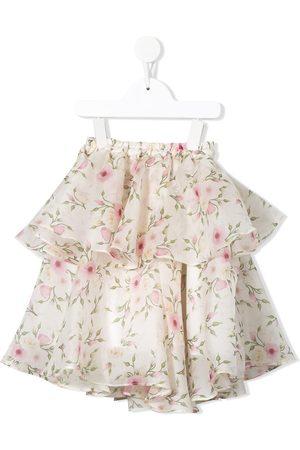 Little Bambah Rose bud double ruffle skirt
