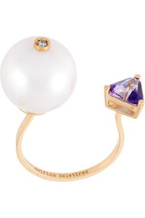 DELFINA DELETTREZ Trillion' diamond ring