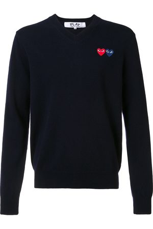 Comme des Garçons Brand logo V neck jumper
