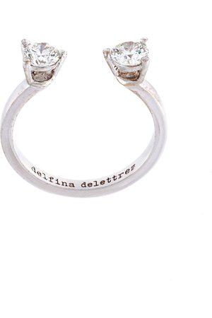 DELFINA DELETTREZ Dots' diamond midi fingertip ring
