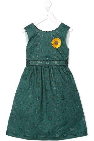 Familiar Sunflower flared dress