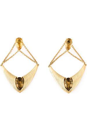SHAUN LEANE Bound' champagne quartz earrings