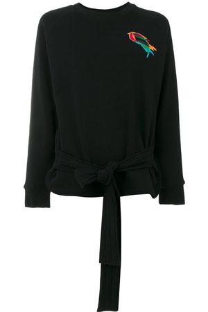 Ioana Ciolacu Embroidered bird sweatshirt