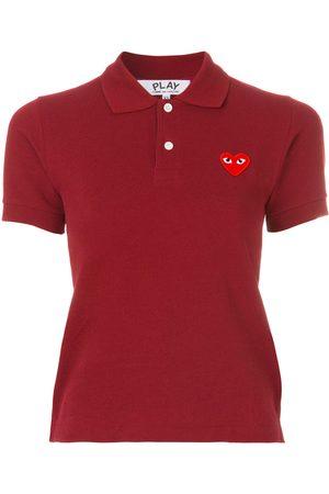 Comme des Garçons Logo embroidered cropped polo shirt