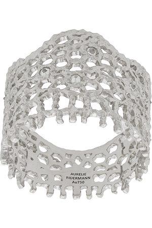 Aurélie Bidermann 18kt white gold Vintage Lace diamond ring