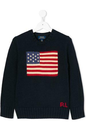 Ralph Lauren Boys Jumpers - USA flag jumper
