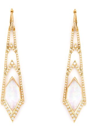 STEPHEN WEBSTER Crystal Haze' long diamond earrings