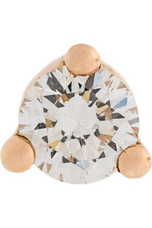 DELFINA DELETTREZ 18kt gold Dots Solitaire diamond and pearl earring