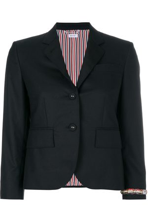 Thom Browne Classic Single Breasted Sport Coat With Wristwatch Applique & Combo Lapel In Super 120's Twill