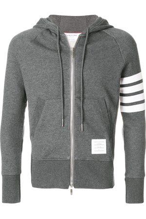 Thom Browne Engineered 4-Bar Zip-Up Jersey Hoodie