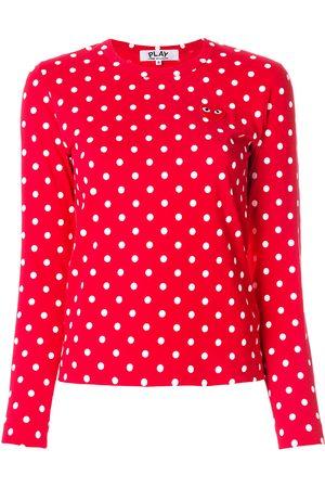 Comme des Garçons Polka dot heart logo T-shirt