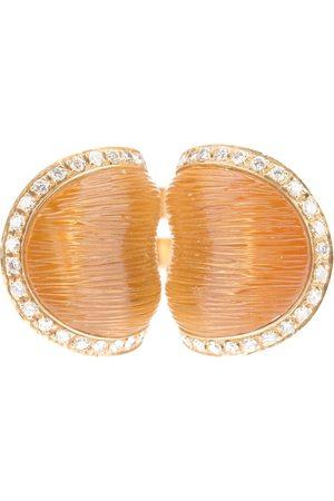 Pascia Citrine and diamond ring