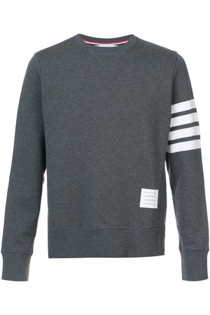 Thom Browne Classic Sweatshirt With Engineered 4-Bar In Classic Loop Back