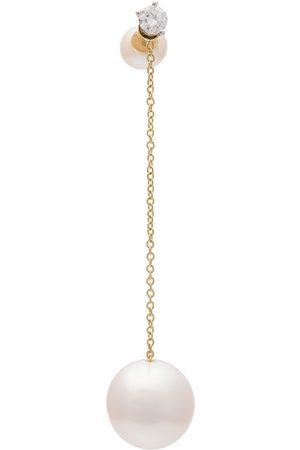 DELFINA DELETTREZ Diamond stud chain pearl earring