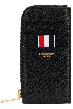 Thom Browne Half Zip Around Wallet In Pebble Grain