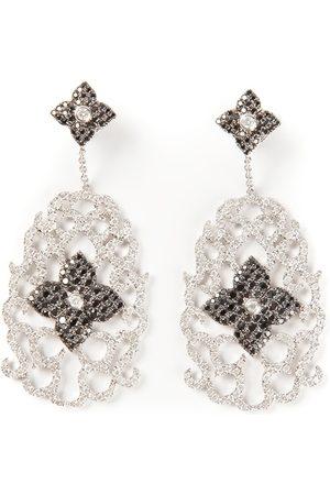 ELISE DRAY Diamond floral pavé earrings