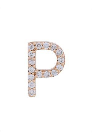 ALINKA 18kt rose gold diamond letter stud earring