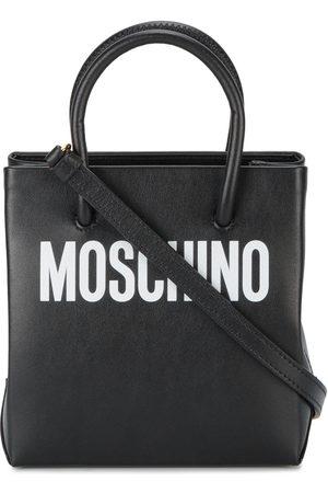 Moschino Logo print leather tote bag