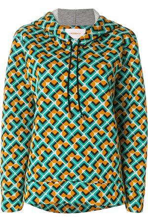 La DoubleJ Domino print hoodie