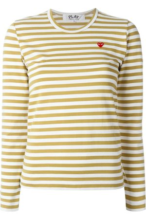 Comme des Garçons Mini heart striped T-shirt
