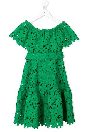 Little Bambah Crochet off-shoulder dress