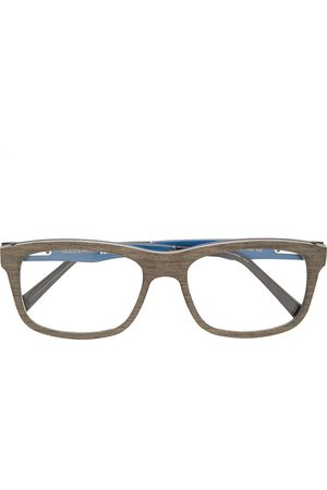 GOLD AND WOOD Square shaped glasses