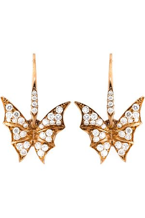 STEPHEN WEBSTER Diamond wing earrings