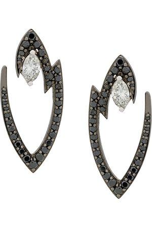 STEPHEN WEBSTER 18kt white gold Lady Stardust marquise diamond earrings