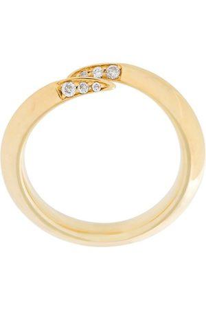 SHAUN LEANE Signature Tusk' diamond wrap ring