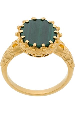 ASTLEY CLARKE Malachite large floris ring