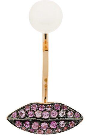 DELFINA DELETTREZ Women Earrings - 18kt champagne gold Lips Piercing earring