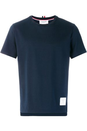 Thom Browne Side Slit Relaxed Fit Short Sleeve Jersey Tee