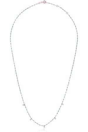 GIGI CLOZEAU 5 Diamond 18k Rose Gold Necklace