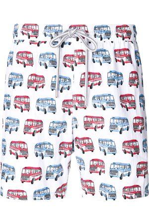 CAPRICODE Men Swim Shorts - Bus print swim shorts