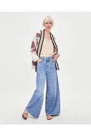 Zara Women Kimonos - EMBROIDERED KIMONO