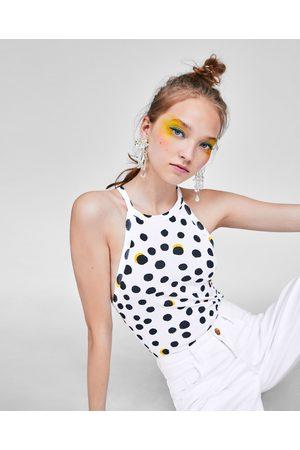 Zara Women Bodies - HALTERNECK BODYSUIT