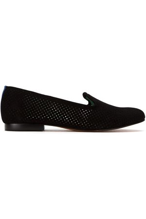 Blue Bird Perforated suede loafers