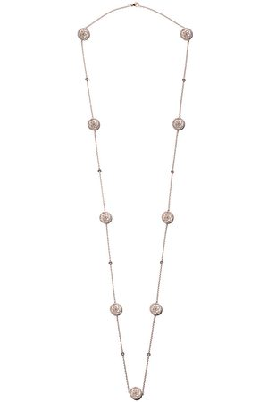 De Beers 18kt Enchanted Lotus Mother-of-Pearl diamond sautoir necklace