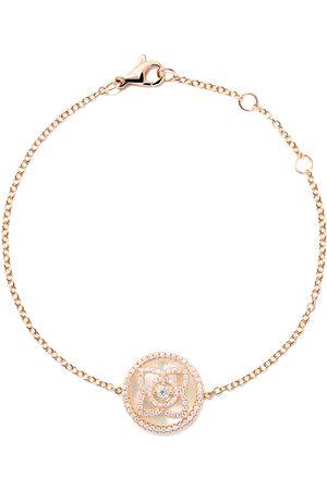 De Beers 18kt Enchanted Lotus Mother-of-Pearl diamond bracelet