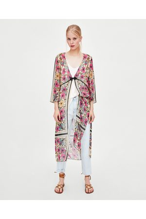 Zara FLORAL PRINT DRESSING GOWN